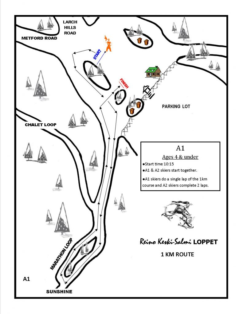 1KM Kids' Route – Larch Hills Nordic Society